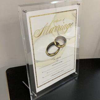 Acrylic Desk A4 Certificate Frame